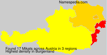 Surname Mikats in Austria