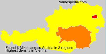 Surname Mikos in Austria