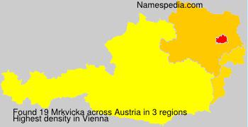 Surname Mrkvicka in Austria