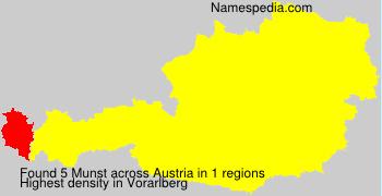 Surname Munst in Austria