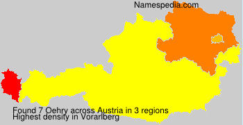 Surname Oehry in Austria