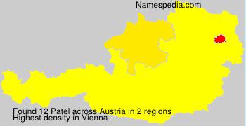 Familiennamen Patel - Austria