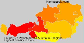 Surname Patsch in Austria