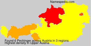 Surname Pechinger in Austria