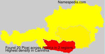 Familiennamen Picej - Austria