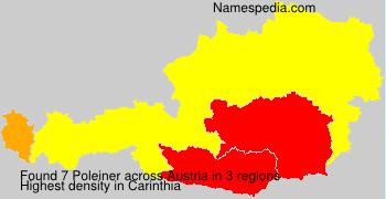 Surname Poleiner in Austria