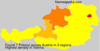 Surname Polonyi in Austria