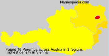 Familiennamen Poremba - Austria