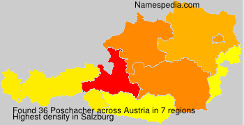 Surname Poschacher in Austria