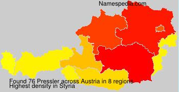 Surname Pressler in Austria