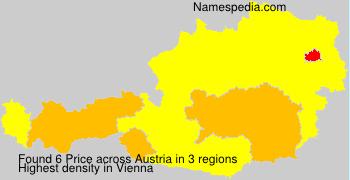 Familiennamen Price - Austria