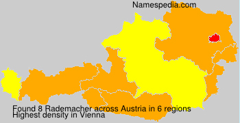 Surname Rademacher in Austria