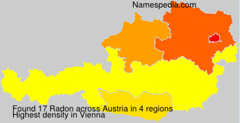 Familiennamen Radon - Austria