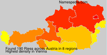 Surname Riess in Austria