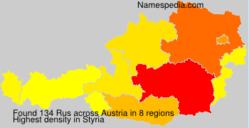 Surname Rus in Austria