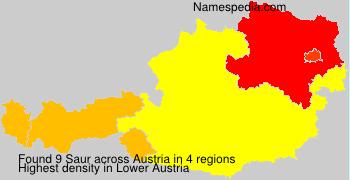 Surname Saur in Austria