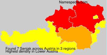 Familiennamen Senjak - Austria