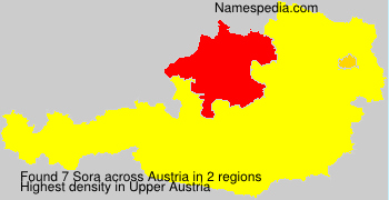 Surname Sora in Austria
