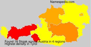 Familiennamen Stojak - Austria