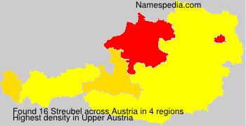 Familiennamen Streubel - Austria