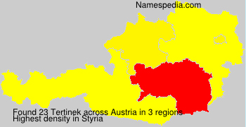 Surname Tertinek in Austria