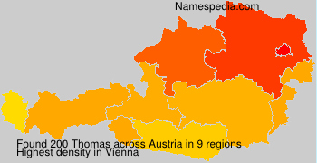 Familiennamen Thomas - Austria