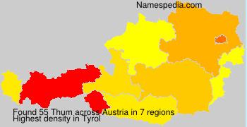Surname Thum in Austria