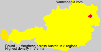 Surname Varghese in Austria