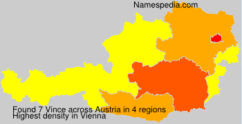 Surname Vince in Austria