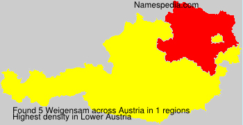 Surname Weigensam in Austria