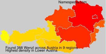 Familiennamen Wenzl - Austria