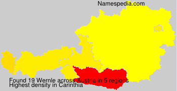 Surname Wernle in Austria