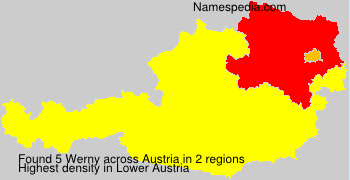 Familiennamen Werny - Austria