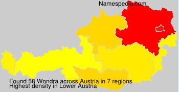 Surname Wondra in Austria