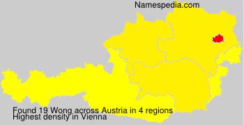 Familiennamen Wong - Austria