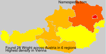 Surname Wright in Austria