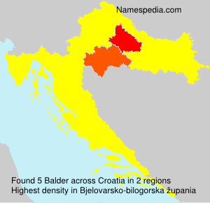 Surname Balder in Croatia
