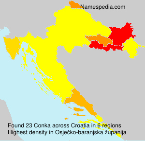 Surname Conka in Croatia