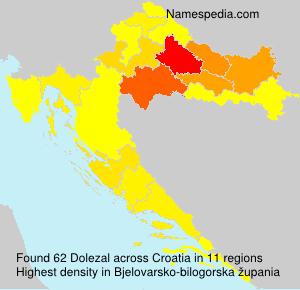 Surname Dolezal in Croatia
