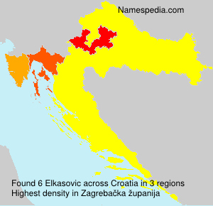 Surname Elkasovic in Croatia