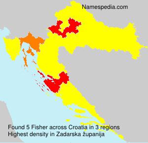 Surname Fisher in Croatia