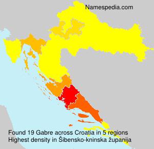 Familiennamen Gabre - Croatia