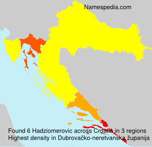 Surname Hadziomerovic in Croatia