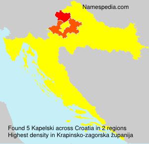 Surname Kapelski in Croatia