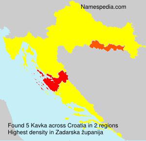 Surname Kavka in Croatia