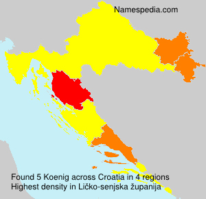 Surname Koenig in Croatia