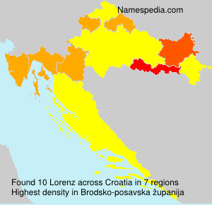 Surname Lorenz in Croatia
