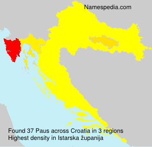 Surname Paus in Croatia