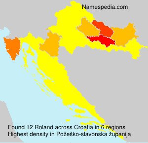 Surname Roland in Croatia