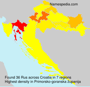 Surname Rus in Croatia